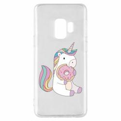 Чехол для Samsung S9 Unicorn and cake