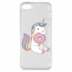 Купить Прикольные рисунки, Чехол для iPhone5/5S/SE Unicorn and cake, FatLine