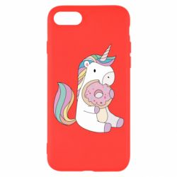 Чехол для iPhone 7 Unicorn and cake