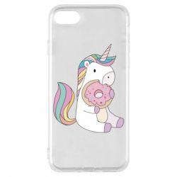 Чехол для iPhone 8 Unicorn and cake
