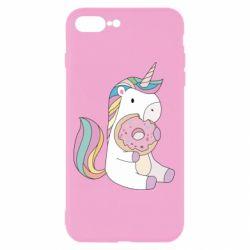 Чехол для iPhone 8 Plus Unicorn and cake