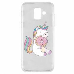 Чехол для Samsung A6 2018 Unicorn and cake