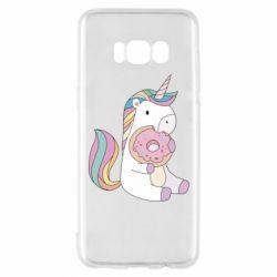 Чехол для Samsung S8 Unicorn and cake