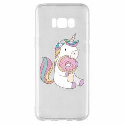 Чехол для Samsung S8+ Unicorn and cake