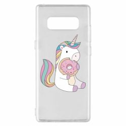 Чехол для Samsung Note 8 Unicorn and cake