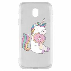 Чехол для Samsung J3 2017 Unicorn and cake