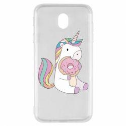 Чехол для Samsung J7 2017 Unicorn and cake