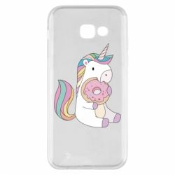 Чехол для Samsung A5 2017 Unicorn and cake