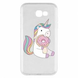Чехол для Samsung A7 2017 Unicorn and cake