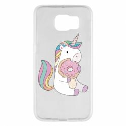 Чехол для Samsung S6 Unicorn and cake