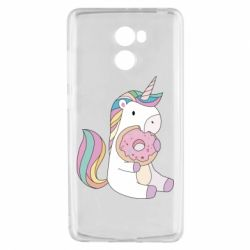 Чехол для Xiaomi Redmi 4 Unicorn and cake