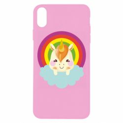 Чехол для iPhone Xs Max Unicorn and cloud