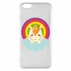Чехол для iPhone 6 Plus/6S Plus Unicorn and cloud