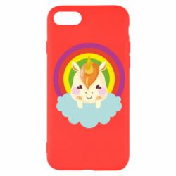 Чехол для iPhone 7 Unicorn and cloud