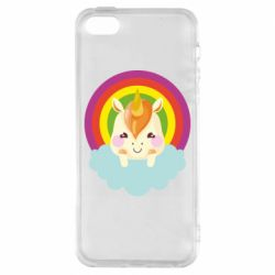 Чехол для iPhone5/5S/SE Unicorn and cloud