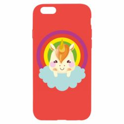 Чехол для iPhone 6/6S Unicorn and cloud