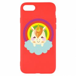 Чехол для iPhone 8 Unicorn and cloud