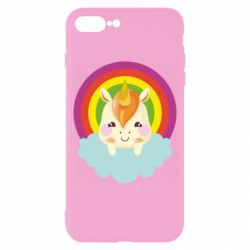 Чехол для iPhone 8 Plus Unicorn and cloud