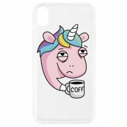 Чохол для iPhone XR Unicorn and coffee