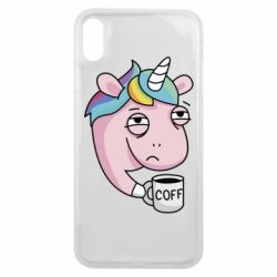 Чохол для iPhone Xs Max Unicorn and coffee