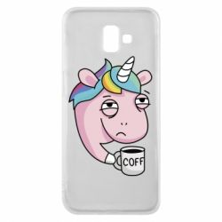 Чохол для Samsung J6 Plus 2018 Unicorn and coffee