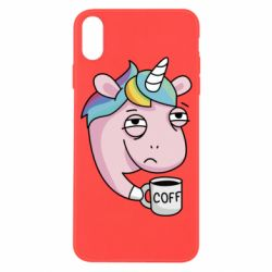 Чохол для iPhone X/Xs Unicorn and coffee