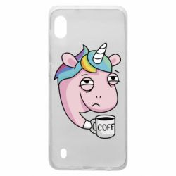 Чохол для Samsung A10 Unicorn and coffee