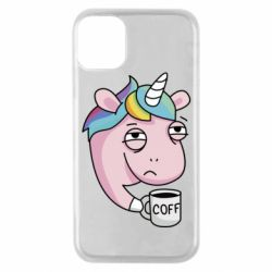 Чохол для iPhone 11 Pro Unicorn and coffee