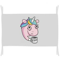 Прапор Unicorn and coffee