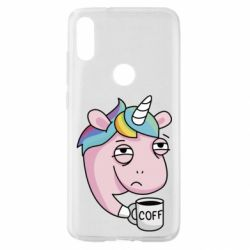 Чохол для Xiaomi Mi Play Unicorn and coffee