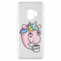 Чохол для Samsung S9 Unicorn and coffee