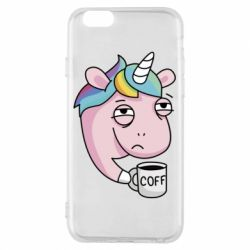 Чохол для iPhone 6/6S Unicorn and coffee