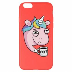 Чохол для iPhone 6 Plus/6S Plus Unicorn and coffee