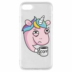 Чохол для iPhone 7 Unicorn and coffee
