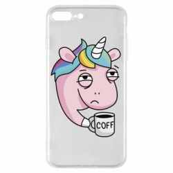 Чохол для iPhone 7 Plus Unicorn and coffee