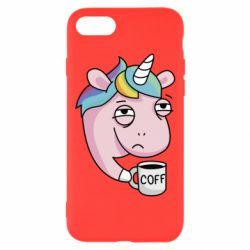 Чохол для iPhone 8 Unicorn and coffee
