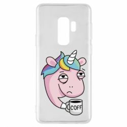 Чохол для Samsung S9+ Unicorn and coffee