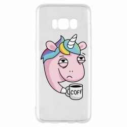 Чохол для Samsung S8 Unicorn and coffee