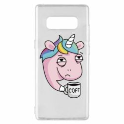 Чохол для Samsung Note 8 Unicorn and coffee