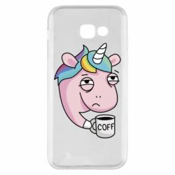 Чохол для Samsung A5 2017 Unicorn and coffee