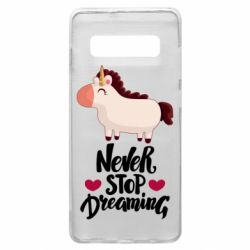 Чехол для Samsung S10+ Unicorn and dreams