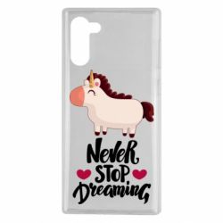 Чехол для Samsung Note 10 Unicorn and dreams