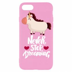 Чехол для iPhone 7 Unicorn and dreams