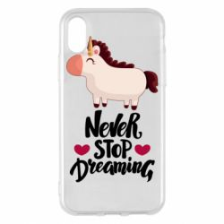Чехол для iPhone X/Xs Unicorn and dreams