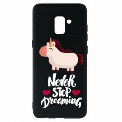 Чехол для Samsung A8+ 2018 Unicorn and dreams