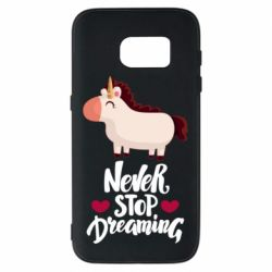 Чехол для Samsung S7 Unicorn and dreams