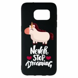Чехол для Samsung S7 EDGE Unicorn and dreams