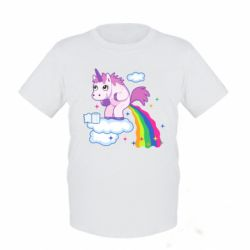 Дитяча футболка Unicorn and Rainbow