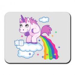 Коврик для мыши Unicorn and Rainbow