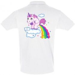 Футболка Поло Unicorn and Rainbow